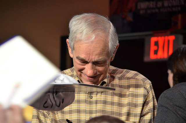 Ron Paul etter et valgkamparrangement i Columbia, South Carolina i midten av januar. Foto: Are Tågvold Flaten / AmerikanskPolitikk.no.