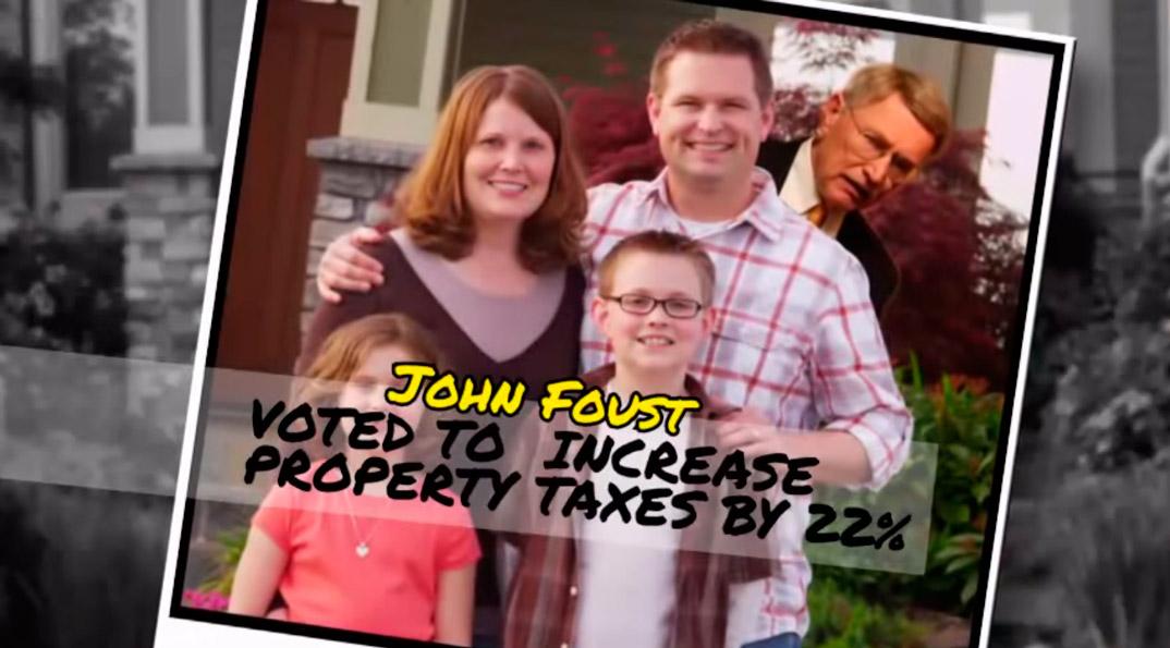 En av mange politiske reklamer som går på TV i Washington om dagen.
