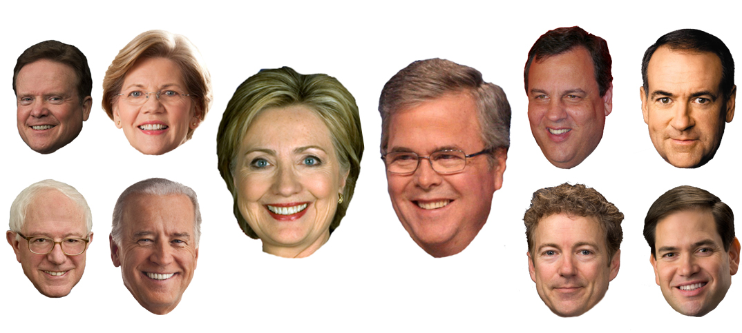 AmerikanskPolitikk.no sin #2016tracker gir deg oversikten over hvem som ligger best an av de potensielle 2016-kandidatene.