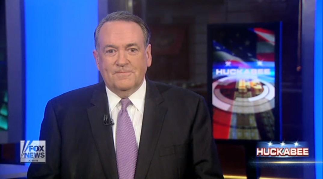 """Skjermbilde fra siste utgave av """"Huckabee"""" på Fox News, lørdag 3. januar 2015."""