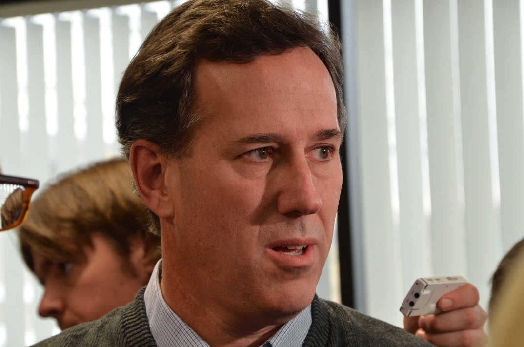 Rick Santorum på valgkamphovedkvarteret i Grand Rapids, Michigan, 28. februar, 2012. Foto: Are Tågvold Flaten / AmerikanksPolitikk.no.