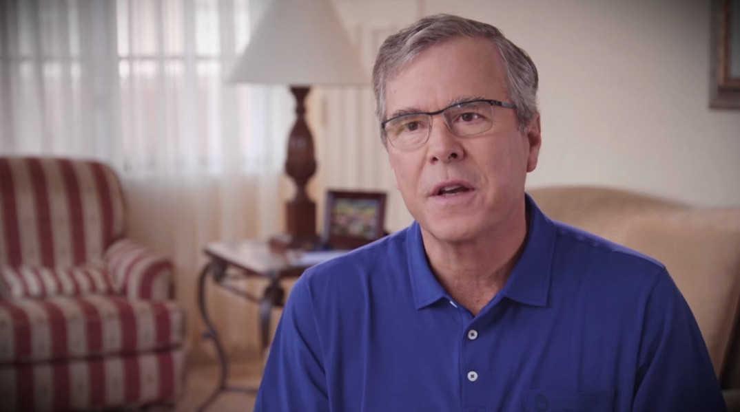"Jeb Bush i videoen ""Making a Difference"", publisert dagen før kunngjøringen i Miami, Florida. Foto: Jeb 2016."