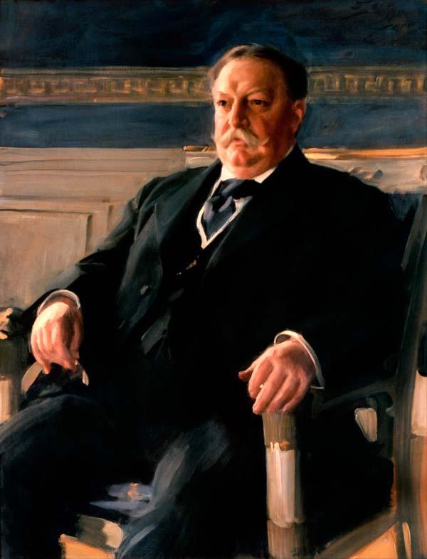Tafts offisielle presidentportrett, malt av Anders Zorn i 1911.