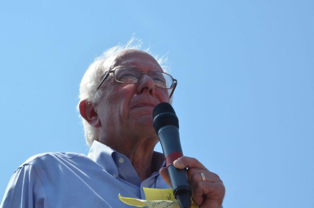 Bernie Sanders på Iowa State Fair, lørdag 15. august. Foto: Are Tågvold Flaten, AmerikanskPolitikk.no.