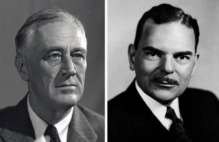 Roosevelt og Dewey. Foto: Wikipedia.